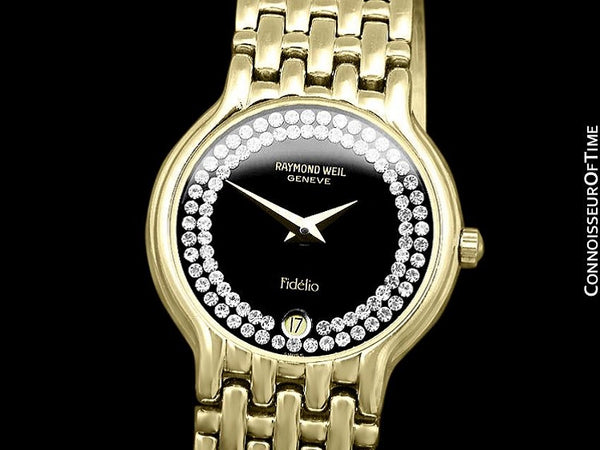 Raymond Weil Fidelio Ladies Jeweled Bracelet Watch, Ref. 4702 - 18K Gold Plated with Swarovski Crystal