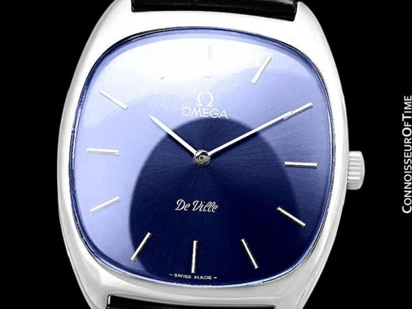 1979 Omega De Ville Vintage Mens Handwound Ultra Thin Dress Watch - Stainless Steel