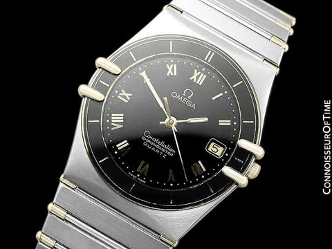 Omega Constellation Mens Quartz Chronometer Watch, Stainless Steel & 18K Gold - The Original Manhattan