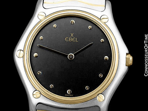 Ebel Classic Wave Unisex Mens Midsize Watch with Bracelet - Stainless Steel and 18K Gold
