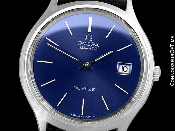 1976 Omega De Ville Classic Full Size Vintage Mens Transitional Cal. 1325 Quartz Watch, Date - Stainless Steel