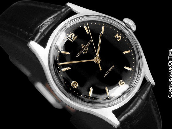 1950's Ulysse Nardin Vintage Mens Automatic Explorer Dial Watch - Stainless Steel