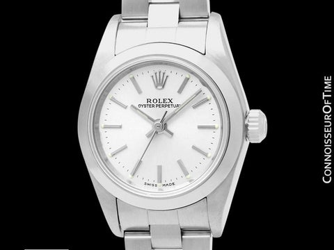 Rolex Ladies Oyster Perpetual No Date, 76080 - Stainless Steel