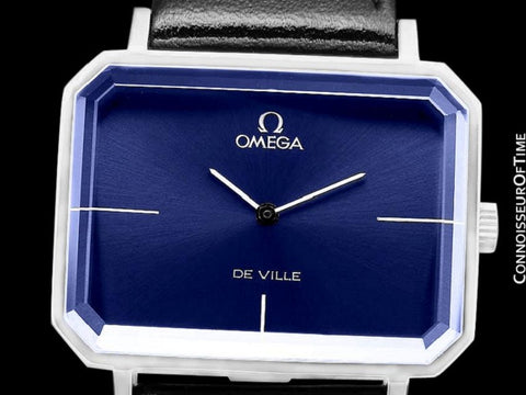 "1971 Omega De Ville Mens Midsize ""Emerald"" Modern Watch By Andrew Grima - Stainless Steel"