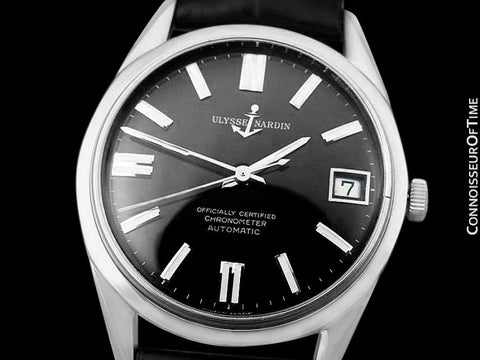 1960's Ulysse Nardin Vintage Mens Full Size Watch, Stainless Steel - Officially Certified Chronometer