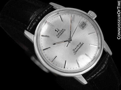 1968 Omega Seamaster Geneve Mens Vintage Watch with 565 Movement, Automatic, Quick-Setting Date - Stainless Steel