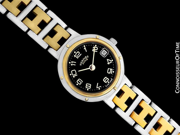 d13b6485aa4 Hermes Ladies Clipper 2-Tone Quartz Watch - Stainless Steel and 18K Gold  Plated