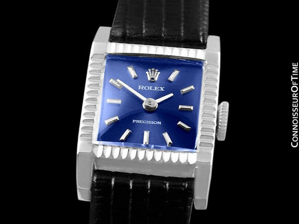 1974 Rolex Precision Pre-Cellini Vintage Ladies Watch, Ref. 9356 - 18K White Gold