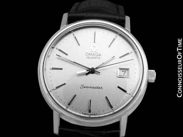 1978 Omega Seamaster Vintage Mens Quartz Stainless Steel Watch with Date