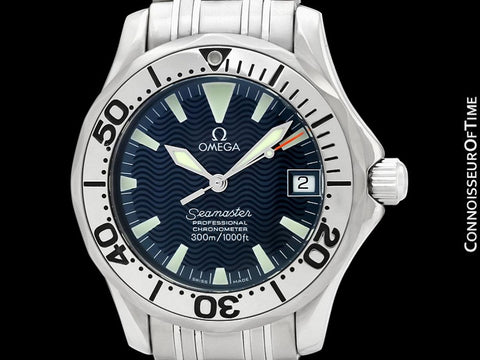 Omega Seamaster Midsize 300M Professional Diver Chronometer Limited Edition Jacques Mayol Watch, Stainless Steel - 2263.80.00