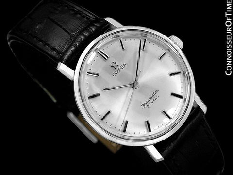 1964 Omega Seamaster Vintage Mens Handwound Watch with Date - Stainless Steel
