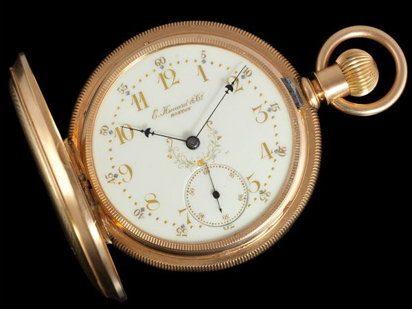 1883 E. Howard & Co. Antique 18 Size Pocket Watch - Fancy Dial - 14K Gold