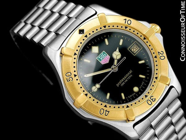 TAG Heuer Professional 2000 Mens Diver Watch, WE1120R - Stainless Steel & 18K Gold Plated