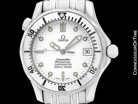 Omega Seamaster Midsize 300M White (James Bond Style) Professional Automatic Divers Watch Ref. 2552.20, Stainless Steel