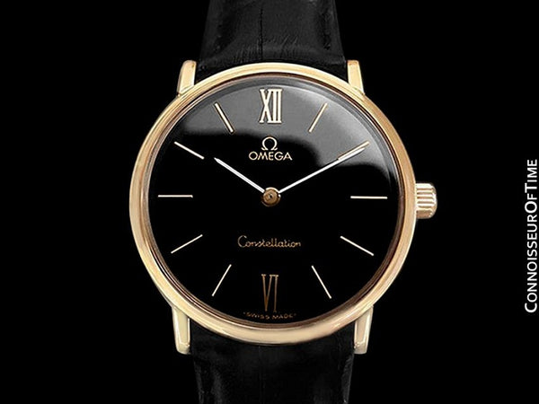 1978 Omega Constellation Mens Vintage Quartz Accuset Watch - 18K Gold Plated