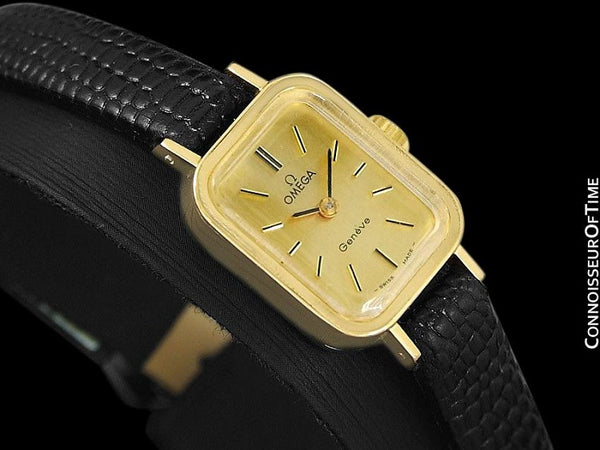1971 Omega Geneve Vintage Ladies Watch - 18K Gold Plated & Stainless Steel