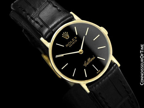 1976 Rolex Cellini Vintage Ladies Watch, Ref. 3810 - 18K Gold