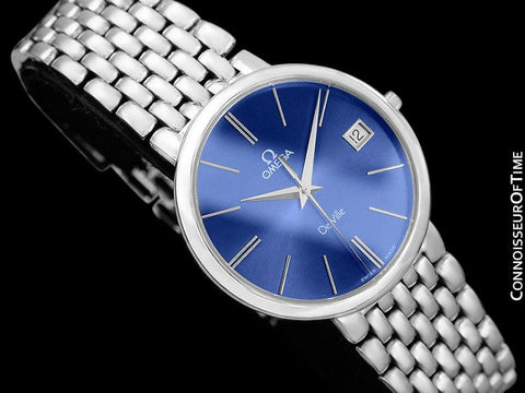 Omega De Ville Mens Ultra Thin Dress Watch with Bracelet - Stainless Steel