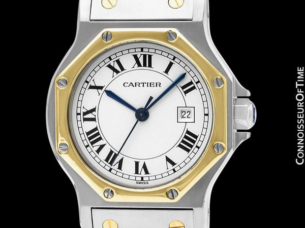 Cartier Santos Octagon Mens Unisex Watch, Automatic - Stainless Steel & 18K Gold