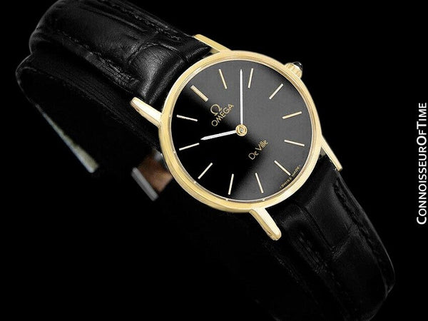 1980 Omega De Ville Vintage Ladies Dress Watch - 18K Gold Plated & Stainless Steel