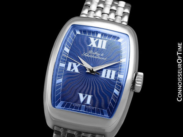 Dubey & Schaldenbrand Ladies Automatic Tonneau Luxury Watch - Stainless Steel