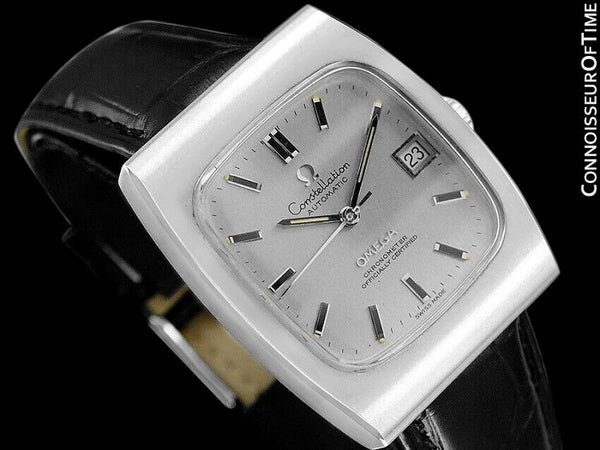 c. 1969 Omega Constellation Vintage Mens Watch, Automatic, Date - Stainless Steel