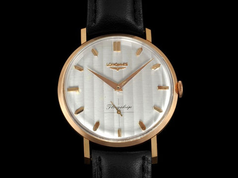1963 Longines Flagship Mens Vintage Watch, Extra Large - 18K Rose Gold