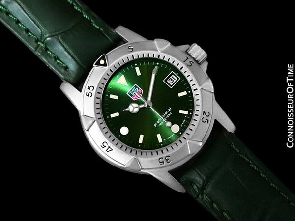 Tag Heuer Professional 1500 Mens Green Dial Divers Watch - Stainless Steel - 959.713G