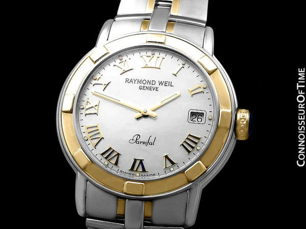 Raymond Weil Parsifal Mens Two-Tone with Mother Of Pearl Dial Watch - Stainless Steel & Solid 18K Gold - Collector New