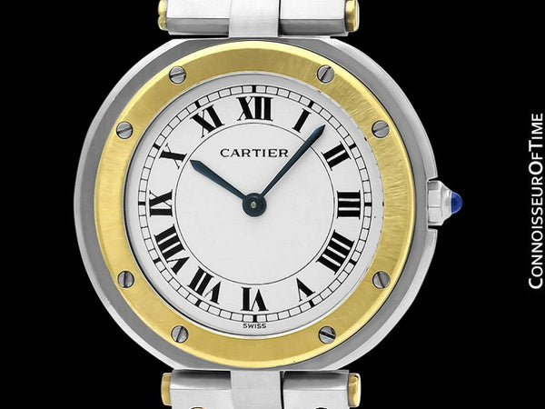 Cartier Santos Vendome Mens Midsize Unisex Watch with Papers - Stainless Steel & 18K Gold