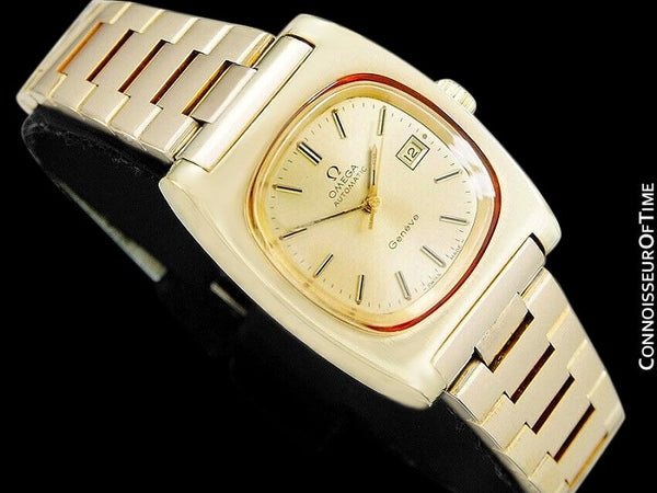 c. 1979 Omega Seamaster Vintage Ladies Automatic Watch - 18K Gold Plated & Stainless Steel