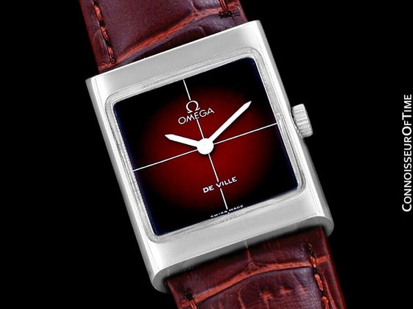 1972 Omega De Ville Vintage Small Mens Midsize Unisex Dress Watch - Stainless Steel