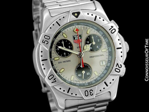 TAG Heuer 2000 Mens Chronograph Divers Watch, 540.206 - Stainless Steel