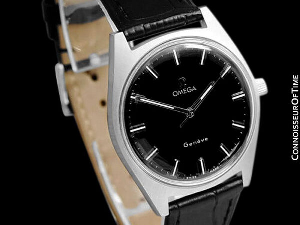 1970 Omega Geneve Vintage Mens Waterproof Style Dress Watch - Stainless Steel