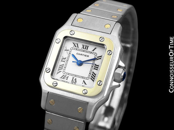 Cartier Santos Ladies Two-Tone Bracelet Watch - Stainless Steel & 18K Gold
