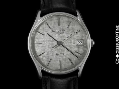 Longines Mens Dress Watch, Quartz, Date - Stainless Steel