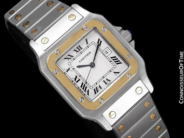 Cartier Mens Santos 2-Tone Automatic Watch - Stainless Steel & 18K Gold