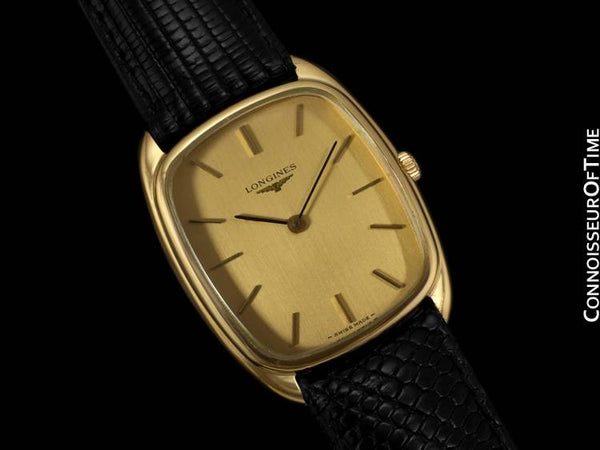 Longines Mens Classic Handwound Dress Watch - 18K Gold Plated & Stainless Steel SS