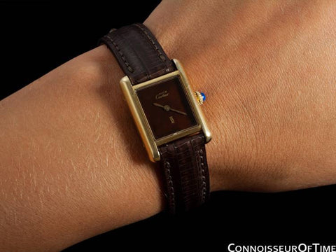 Cartier Vintage Ladies Tank Watch - Gold Vermeil, 18K Gold over Sterling Silver