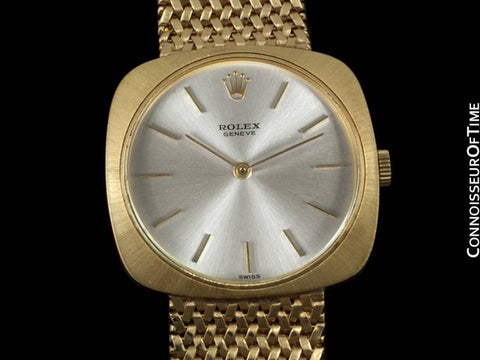 1970's Rolex Vintage Mens Cellini Style Dress Watch - 14K Gold