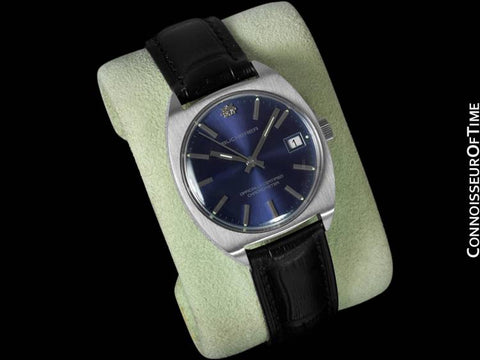 1970's Bucherer Vintage Mens Officially Certified Chronometer Watch - Stainless Steel