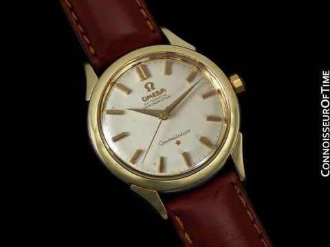 1961 Omega Constellation Vintage Mens Watch, Automatic - 14K Gold & Stainless Steel