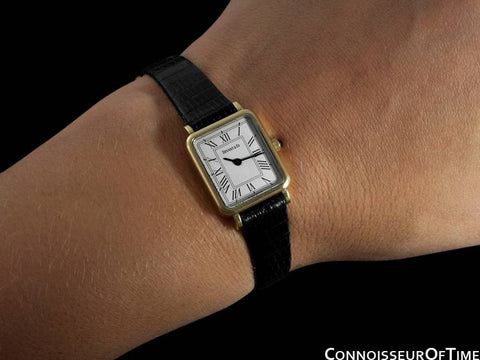Tiffany & Co. Ladies Rectangular Portfolio Watch - 14K Gold