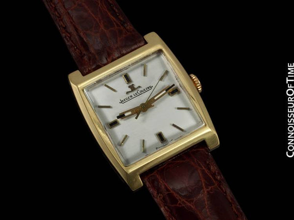 1956 Jaeger-LeCoultre Vintage Mens Midsize Dress Watch - 18K Gold