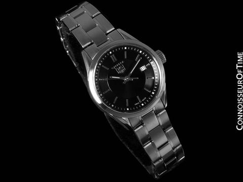 TAG Heuer Carrera Ladies Sport Dress Watch, Black Dial, Stainless Steel - WV1414
