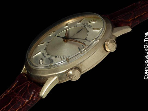 1950's Jaeger-LeCoultre Vintage Mens Memovox Alarm Reveil, Automatic - 10K Gold Filled & Stainless Steel