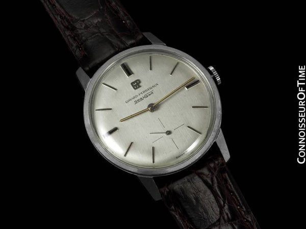 1960's Girard Perregaux Sea Hawk Vintage Mens Waterproof Watch - Stainless Steel