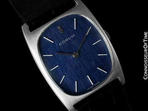 Corum Vintage Mens Midsize Dress Watch - Stainless Steel