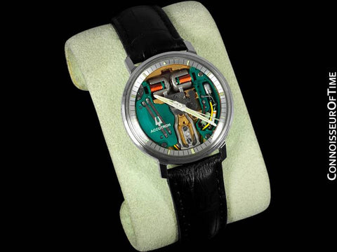 1971 Bulova Spaceview Chapter Ring Vintage Mens Watch - Stainless Steel