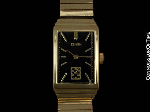 1940's Zenith Vintage Mens Dress Watch - 14K Gold